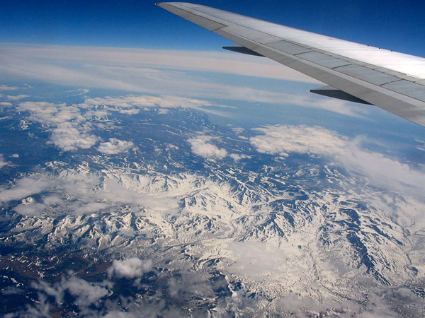 Eastern Siberia from 40,000 feet