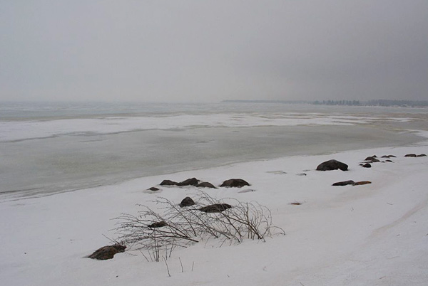 Shore and ice, Lake Winnipeg