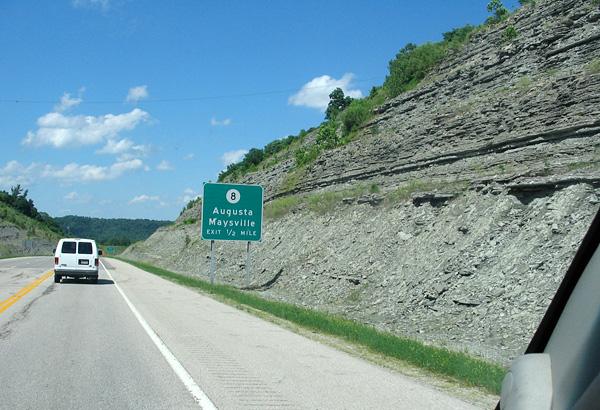 Ordovician Kentucky roadcut