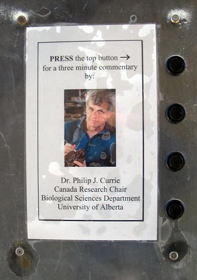 Philip Currie, Dinosaur Provincial Park