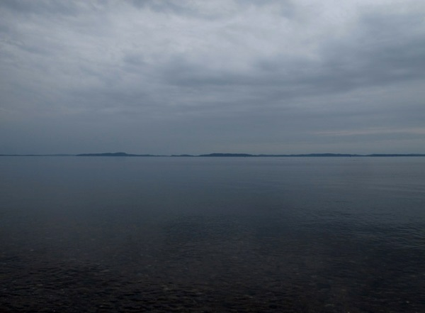 Deer Island viewed from Saint Andrews (with possibly some smaller islands mixed in)