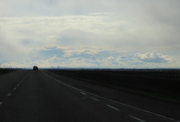Calgary on the horizon (viewed from the east)