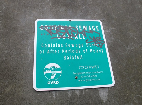 It would seem that it contains sewage at all times, then.