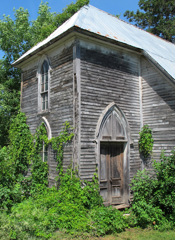 Just up the road stands this lovely overgrown Baptist church.