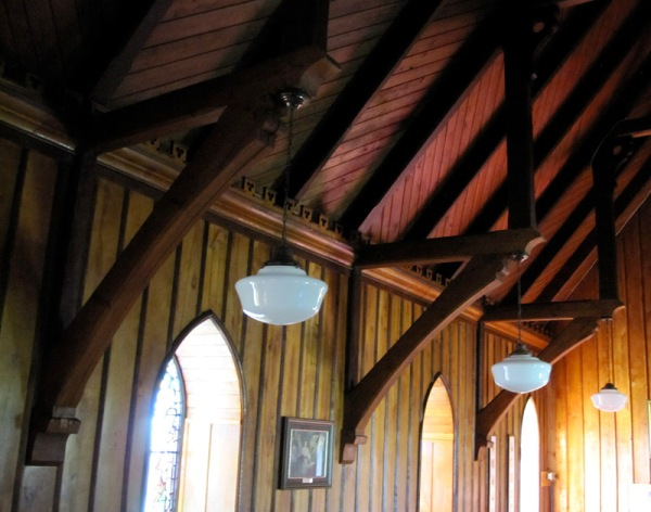 If you ever have the chance to visit, the interior of the church is also worth a look. The board and batten is a clear indication of the very high level of carpentry in 19th century New Brunswick. My recollection is that the boards and battens are butternut and oak, respectively.