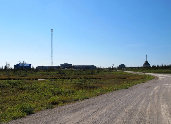 CNSC is to the left of the old research rocket range.