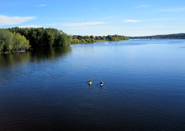 . . . and on an autumn day, Fredericton's river is a perfect recreational waterway.
