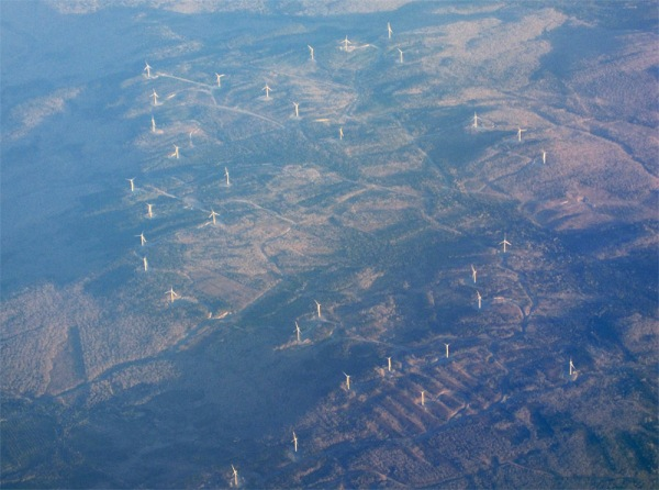 Wind generators on the Appalachians, along the Quebec-Maine border near Lac Megantic