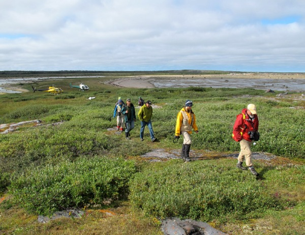 A group of geologists near Sloop Cove, Churchill, Manitoba. August, 2015.